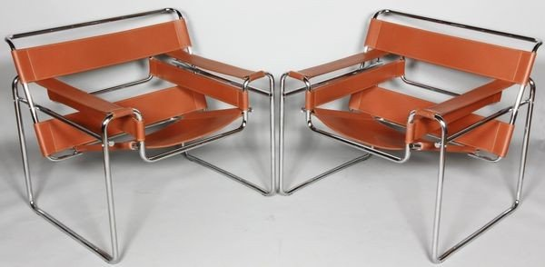 5011: Pair of Wassily-Style Cube Chairs