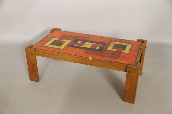 5012: 1950's French Tile Top Table