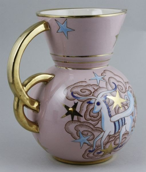 5020: Circa 1940's, Boch Freres Belgian, Ceramic Pitche