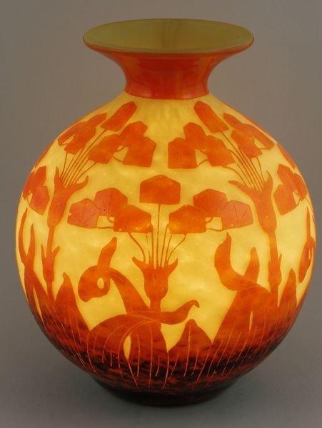 5024: Le Verre Français Cameo Glass Vase