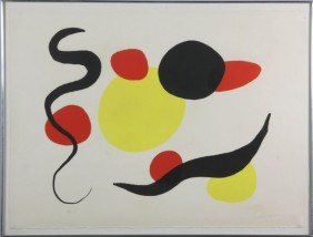 Calder, Abstract, Lithograph