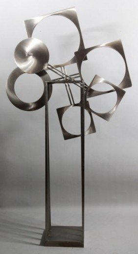 20th C. Stillman Steel Sculpture