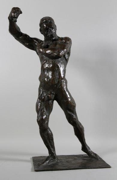5121: Panzeri, Bronze of Nude Male