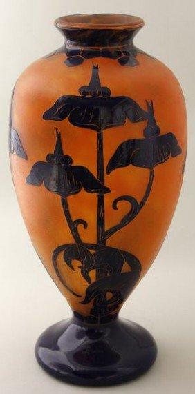 Le Verre Fran�ais Cameo Glass Vase