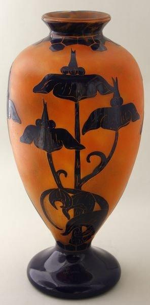 5123: Le Verre Français Cameo Glass Vase