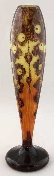 5126: Le Verre Français, Cameo Glass Vase