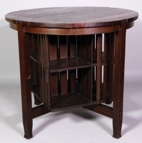Stickley Brothers Co. Oak Library Table