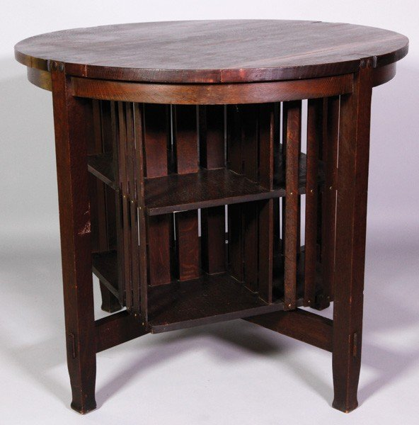 5128A: Stickley Brothers Co. Oak Library Table