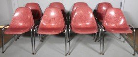 8 1950's Stacking Chairs