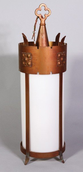 5336: 1930's Arts and Crafts Copper Lamp