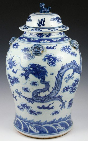 7007: Chinese 19th C. Blue and White Jar