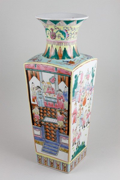 7018: Chinese Early 20th C. Famille Rose Vase