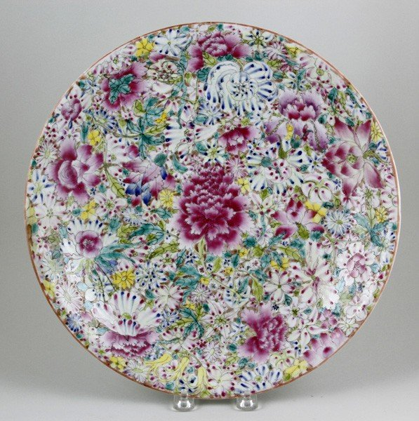 7020: Chinese Early 20th C. Famille Rose Plate