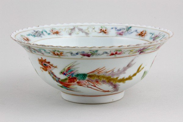7021: Chinese 19th C. Famille Rose Bowl