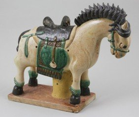 Chinese Ming Dynasty Sancai Pottery Horse