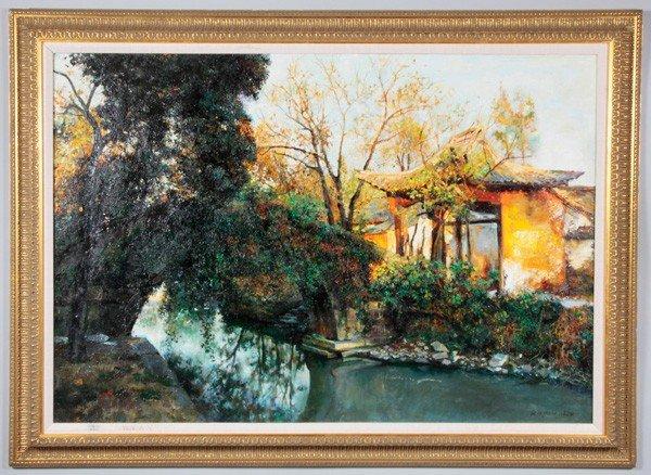 7070: Chinese 20th C. O/C Painting, Pan Honghai