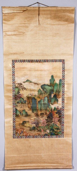 7074: Chinese Antique Silk Painting