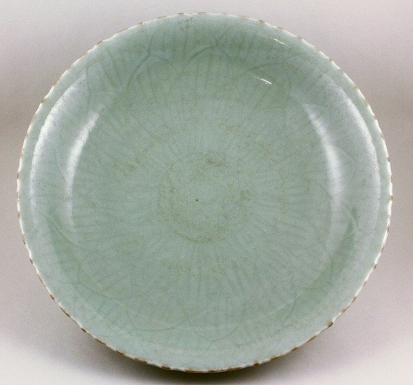 7079: Chinese Ming Dynasty Celadon Plate
