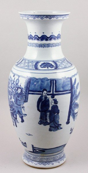 7082A: Chinese 19th C. Blue and White Vase