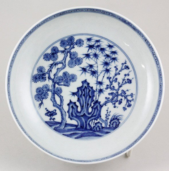 7086: Chinese 19th C. Blue and White Plate