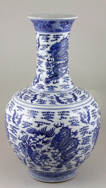 7087: Chinese 19th C. Blue and White Vase