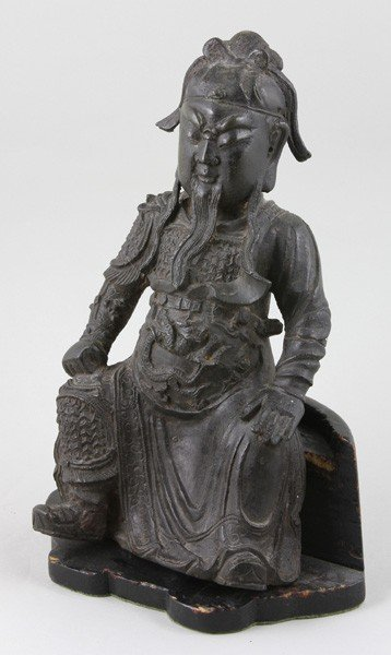 7144: Chinese Ming Dynasty Bronze Warrior