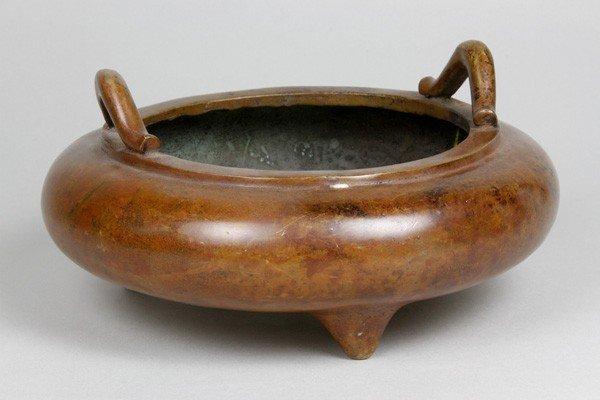 7148: Chinese 19th C. Bronze Censer