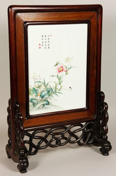7323: Chinese 19th C. Porcelain Plaque