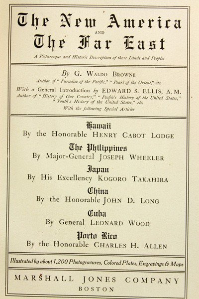 7400: The New America and the Far East, 6 Volumes - 2