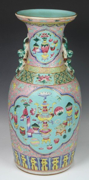 8004: Chinese 18th C. Famille Rose Vase