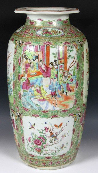8006: Chinese 19th C. Rose Medallion Vase
