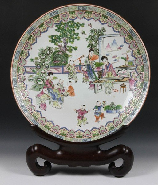 8007: Chinese 20th C. Famille Rose Charger