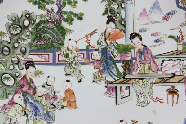 8007: Chinese 20th C. Famille Rose Charger - 2