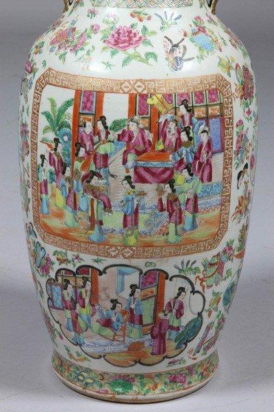 8009: Chinese 19th C. Rose Mandarin Vase - 2