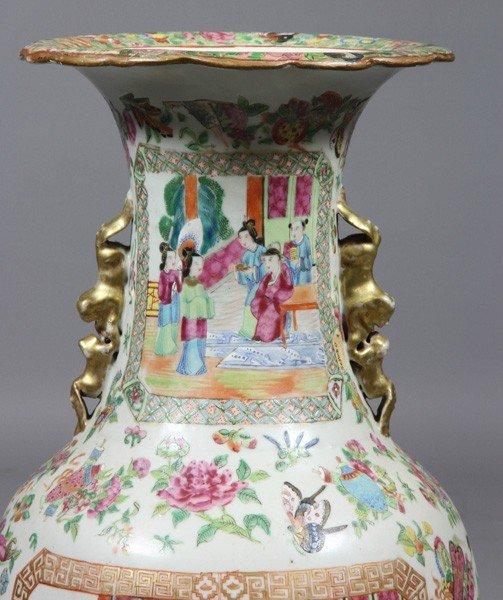 8009: Chinese 19th C. Rose Mandarin Vase - 3