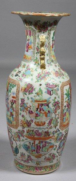8009: Chinese 19th C. Rose Mandarin Vase - 4