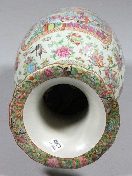 8009: Chinese 19th C. Rose Mandarin Vase - 5