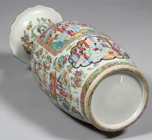 8009: Chinese 19th C. Rose Mandarin Vase - 6