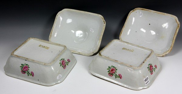 8012: Chinese 19th C. Rose Medallion Vegetable Dishes - 4
