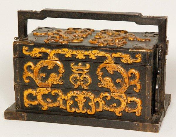 8020: Chinese 19th C. Zitan Scholar's Box