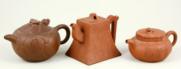 8279: Three Chinese Yixing Teapots