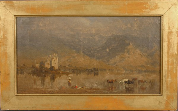 6: 19TH CENTURY OIL ON CANVAS MOUNTAIN LANDSCAPE