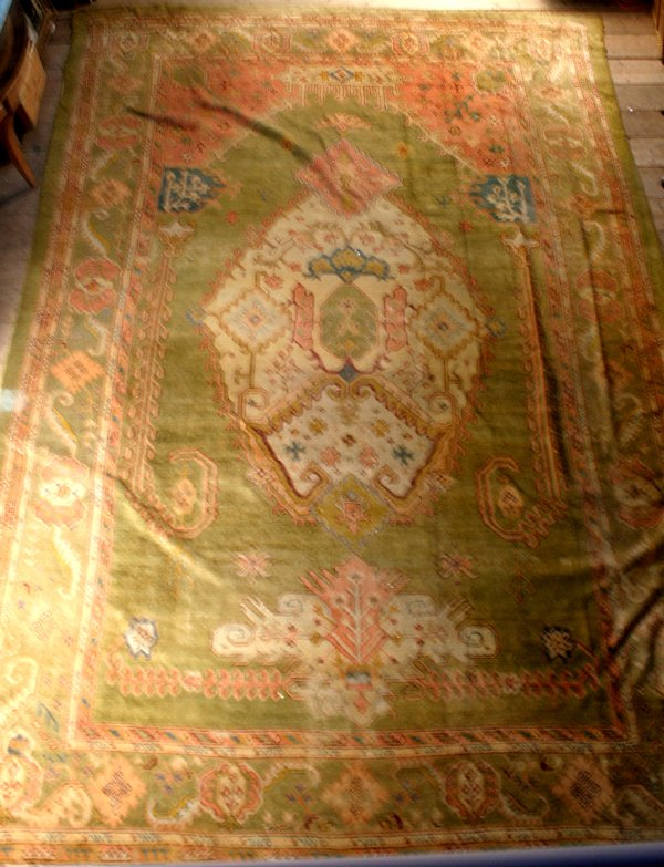 9: 19TH C. OUSHAK PALACE SIZE RUG