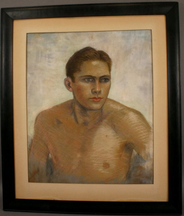 16: 20TH C. PASTEL PORTRAIT OF MAN FRAMED