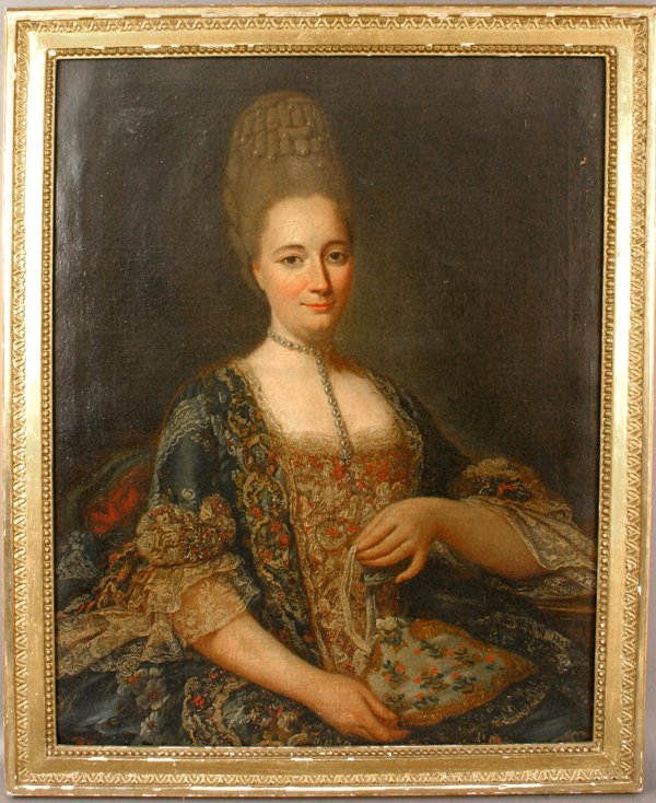 19: 18TH CENTURY OIL ON CANVAS WOMAN'S PORTRAIT