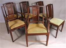 366: 20TH C. HEPPLEWHITE STYLE DINING ROOM TABLE/CHAIRS