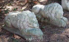 Pair Of Sleeping Lions