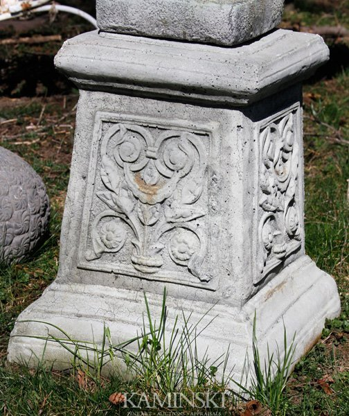 1064: French Style Floral Pedestal