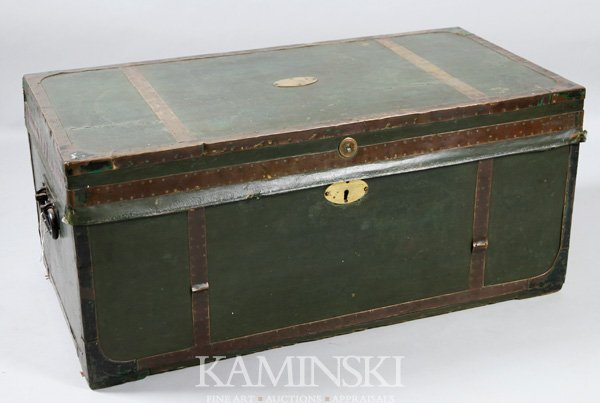 2005: Early Green Leather Camphor Chest