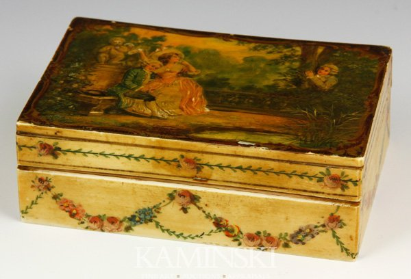 2009: 19th C. French Painted Ivory Box